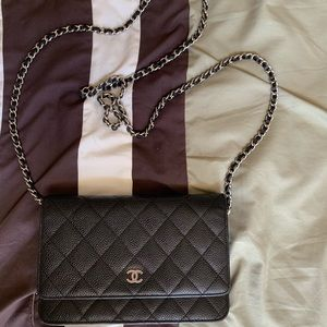 CHANEL Bags - **SOLD***Chanel black caviar WOC w/ silver HW